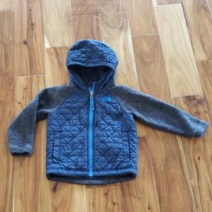 North Face Sweater Fleece Quilted Jacket 3T